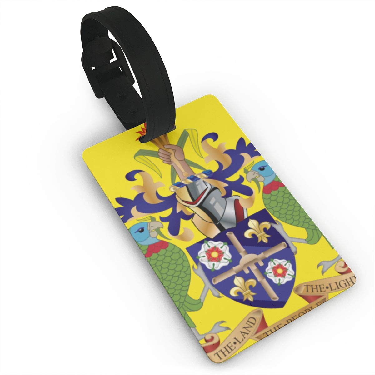 KODW12 Coat of Arms of Saint Lucia Luggage Tag Travel Bag Labels Suitcase Bag Tag Name Address Cards