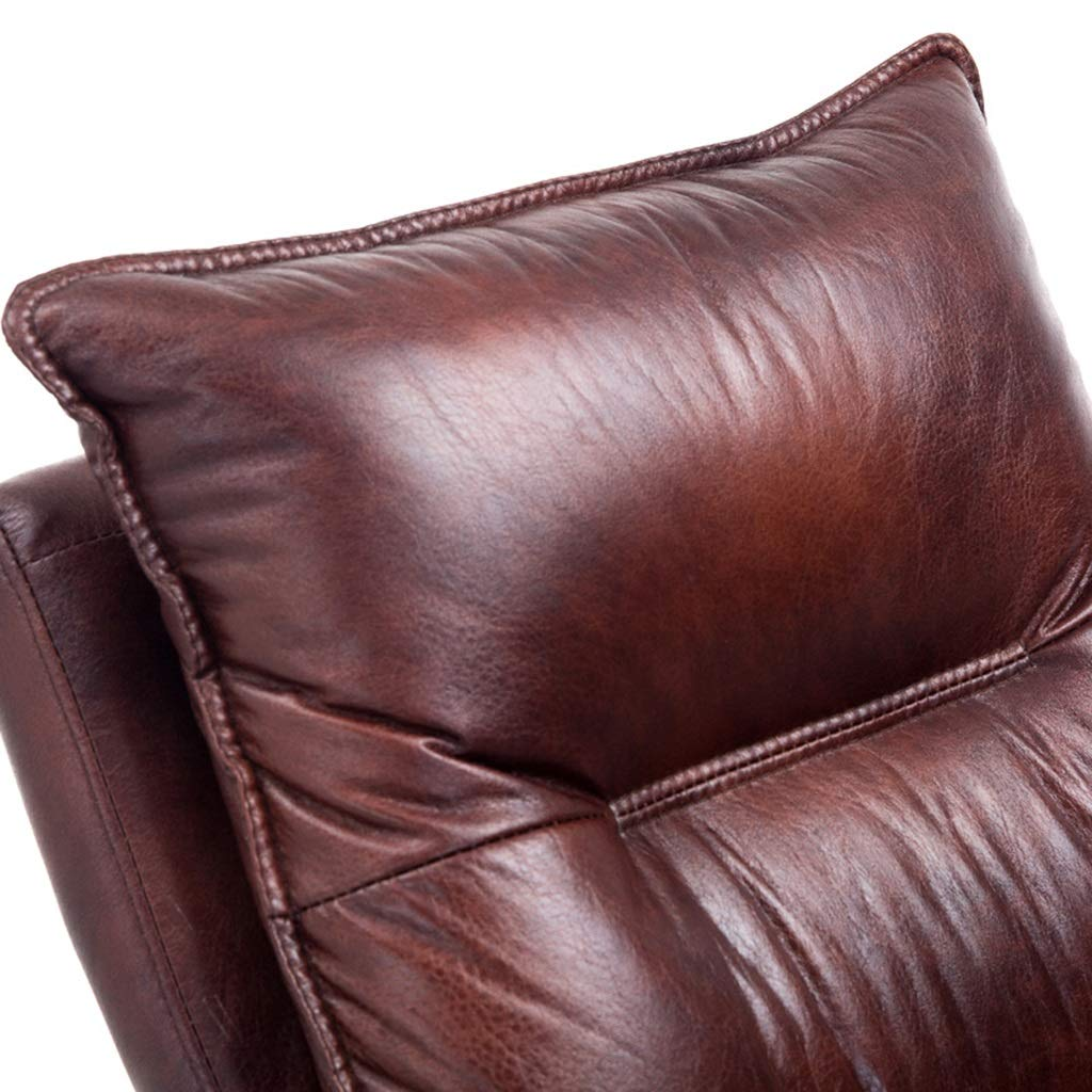 Stolar soffor läder datorstol hemmakontor stol kontor chef stol vardagsrum sovrum liggande massagestol vacker datorstol bekväm stol (100 % kohudsmaterial) Svart BEIgE