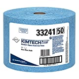 Kimtech Industrial Cleaning Wipes (33241), Disposable, Low Lint, Blue, 1 Jumbo Roll of 717 Sheets