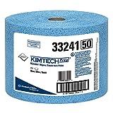 Kimtech 33241 KIMTEX Wipers, Jumbo Roll, 9 3/5 x 13 2/5, Blue (Roll of 717)