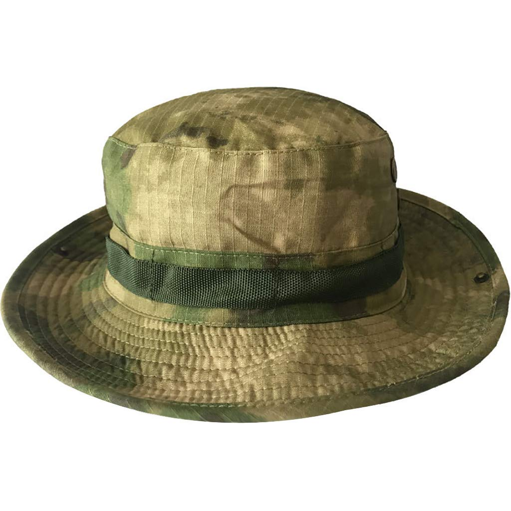 Hengzi New Camouflage Boonie Bucket Hat Mode Fischer Hut Wild Outdoor Sun Flat Hat