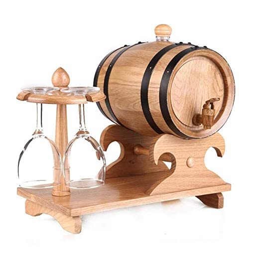 Barril Madera de Roble Vintage Roble Barril Vino Dispensador ...