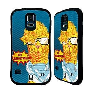 Head Case Designs Mainstream Alpac Art Hybrid Gel Back Case for Samsung Galaxy S5