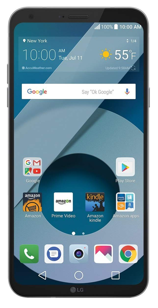 LG Q6 (US700) 32GB GSM Unlocked 4G LTE Android Smartphone w/ 13MP Camera and Face Recognition - Arctic Platinum by LG