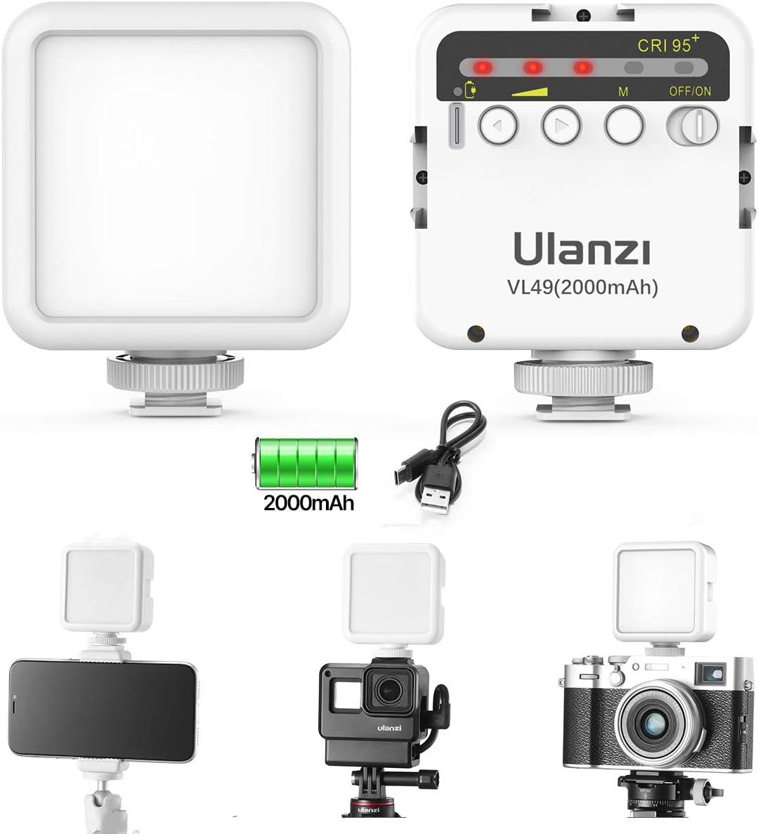 Ulanzi Vl49 2000 Mah Led Video Light Led Camera Light Camera Photo