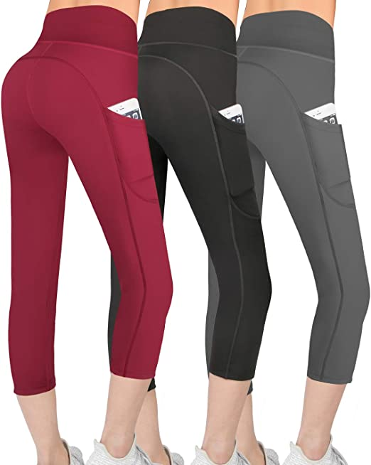 Amazon.com: Abodhu - Pantalones de yoga de cintura alta con ...
