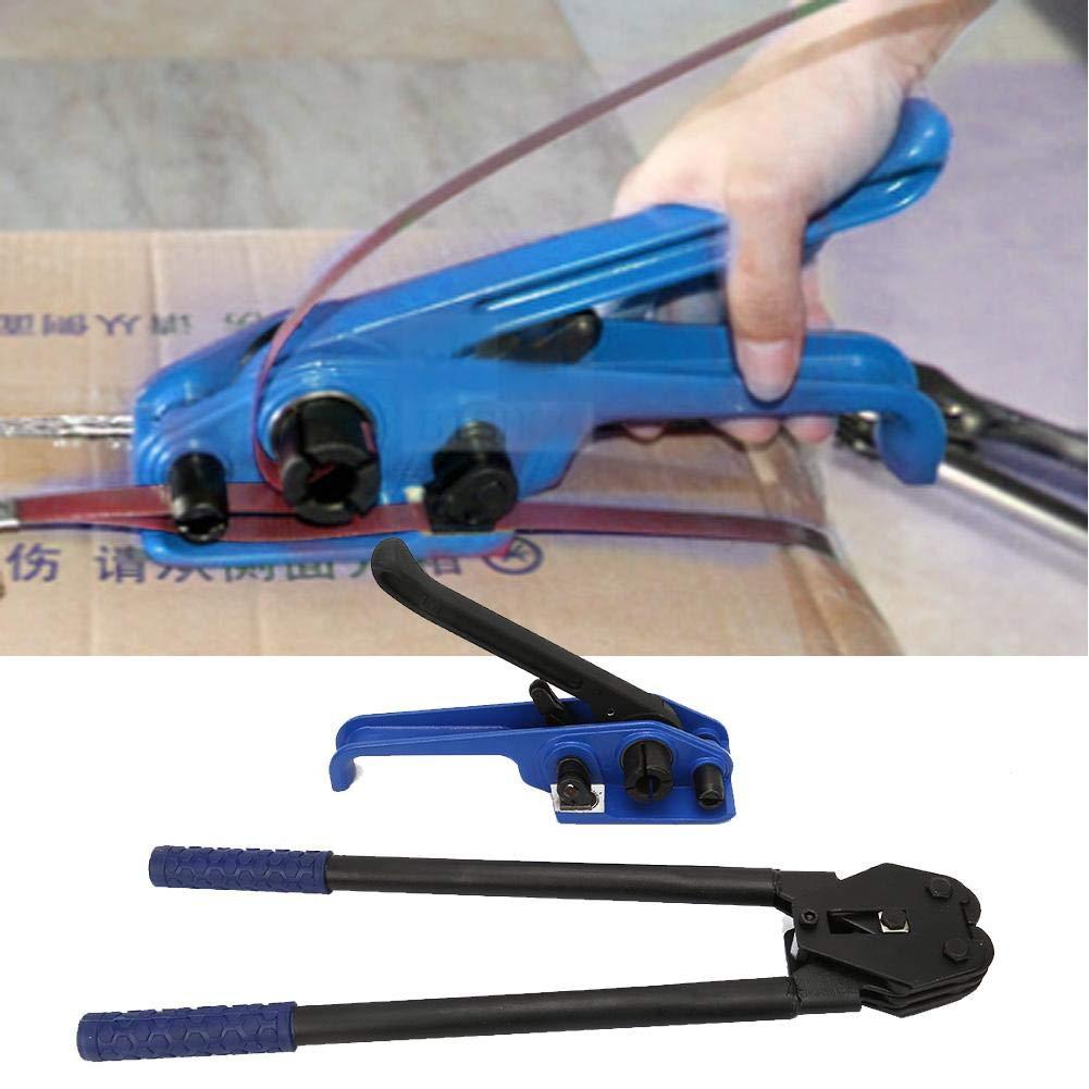 2 Piezas Manual Correa de Acero Tensor Prensador Cinturones Flejadora Herramienta de Bandas M/áquina de Embalaje