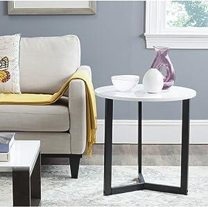 Safavieh Home Collection Ballard White & Black End Table