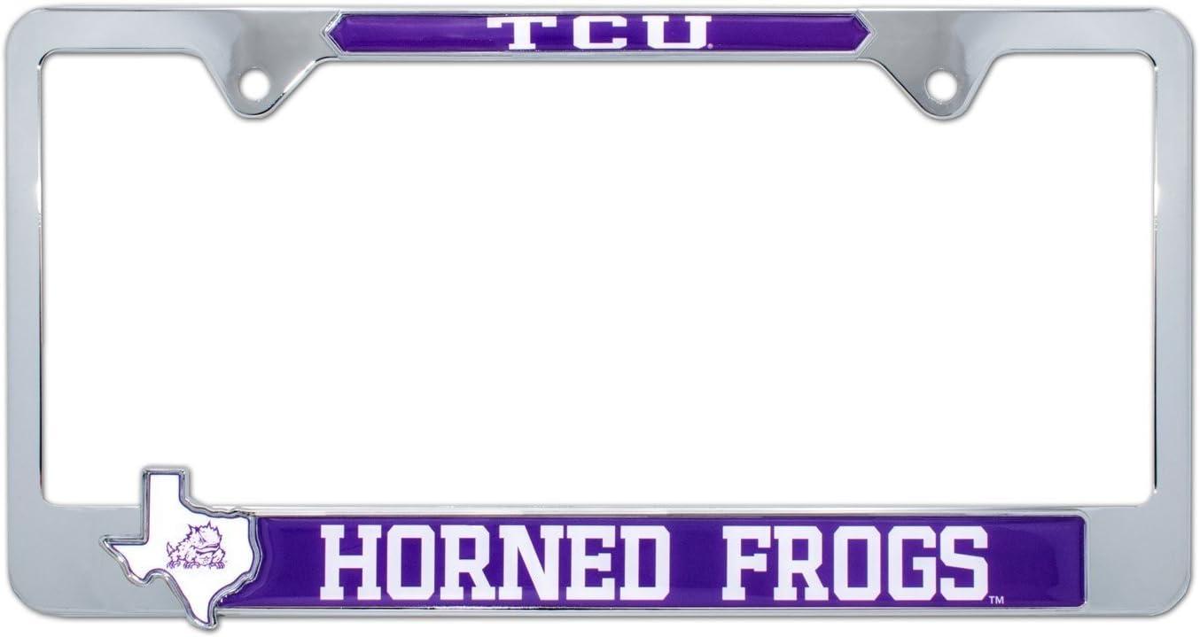 Texas Tech AMG Premium NCAA License Plate Frame w//Texas Shaped Insert