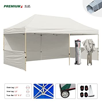 Eurmax 10 X 20 Pop up Canopy Commercial Grade Event Canopy Market Stall Canopy Booth Trade  sc 1 st  Amazon.com & Amazon.com : Eurmax 10 X 20 Pop up Canopy Commercial Grade Event ...