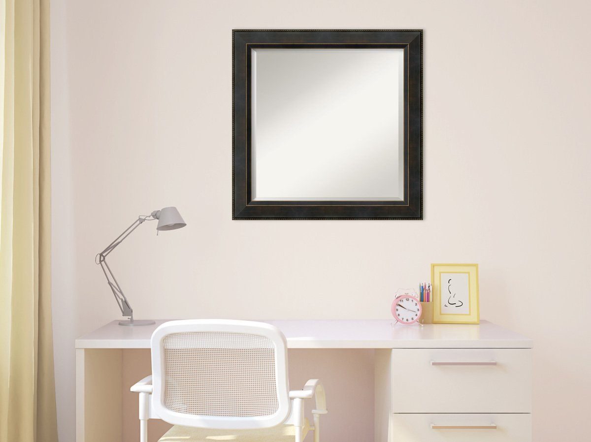 Wall Mirror Signore Square, Signore Bronze Wood: Outer Size 24 x 24'' by Amanti Art (Image #6)