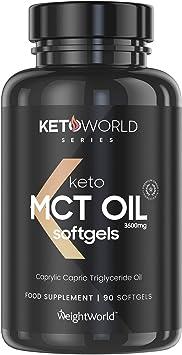Keto Cápsulas de Aceite MCT Oil C8 - 3600 mg de Puro MCT Oil de Aceite de Coco, Refuerza la Cetosis, Dieta Keto, Suplemento Natural Vegano ...
