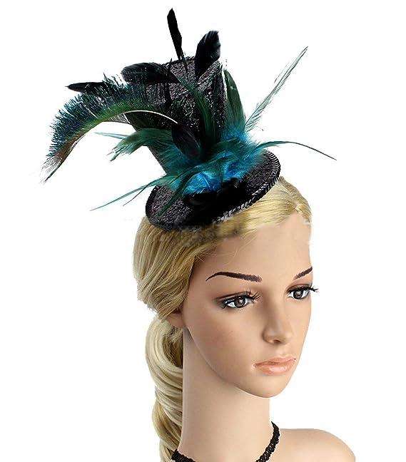 ... Tejida Clásico Mini Sombrero Partido Cóctel De La Tarde Pinza De Pelo  Accesorios para El Cabello Sombrero Gorros Mujeres  Amazon.es  Ropa y  accesorios 0ccd53f8a3a