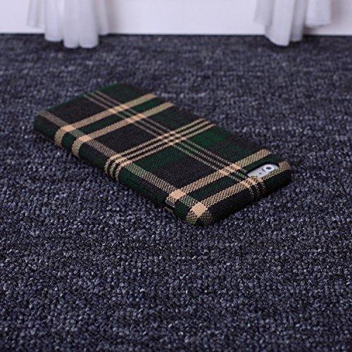 Wkae tissu rétro - angleterre luxe lignes vérifié pour slim en grille de protection hybride pour iphone 6 6s et couverture Wkae Case Cover ( PATTERN : 4 , Size : IPhone 6S Plus )