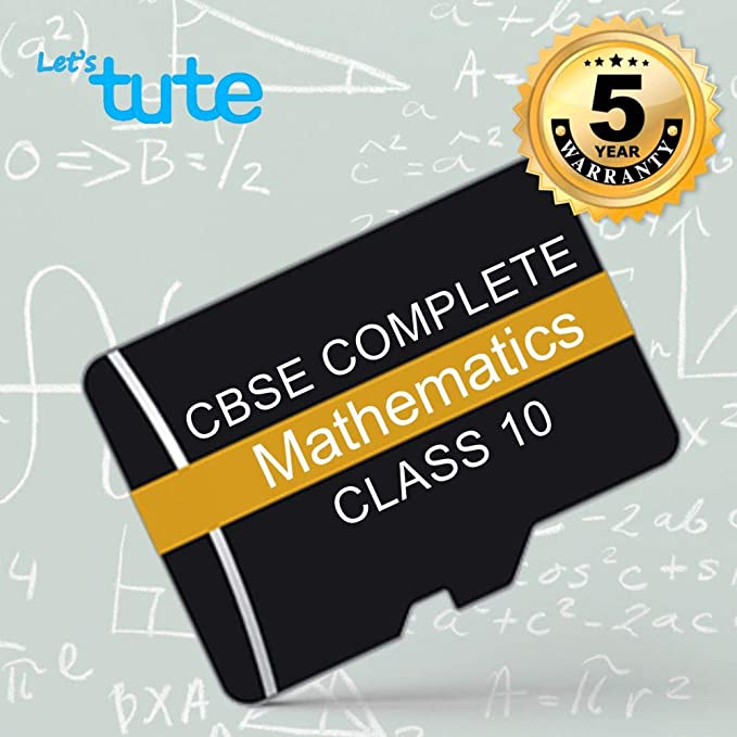 LetsTute CBSE Class 10 Maths SD Card Topicwise Mathematics Effective  Digital Learning - Video Lecture In English Android - Free Revision Chart  Book -
