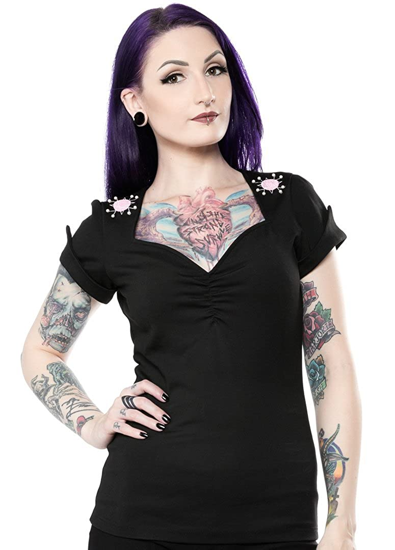 6cec6f3174759 Sourpuss Sputnik Honey Top Black at Amazon Women s Clothing store