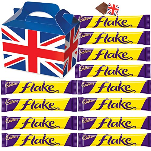 Cadbury Flake 32g - 12 FULL SIZE 32g bars of delicious Cadbury Chocolate in a unique Gift Box and a free British Chocolate.