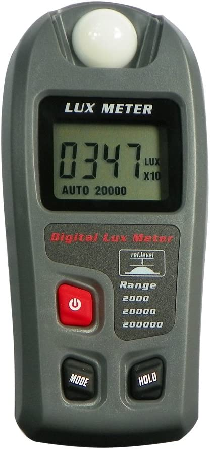 Leaton Digital Luxmeter//Digital Illuminance Light Meter lux Meter with LCD Display Range: 0.1~200,000 Lux Luxmeter, 0.01~20,000Fc