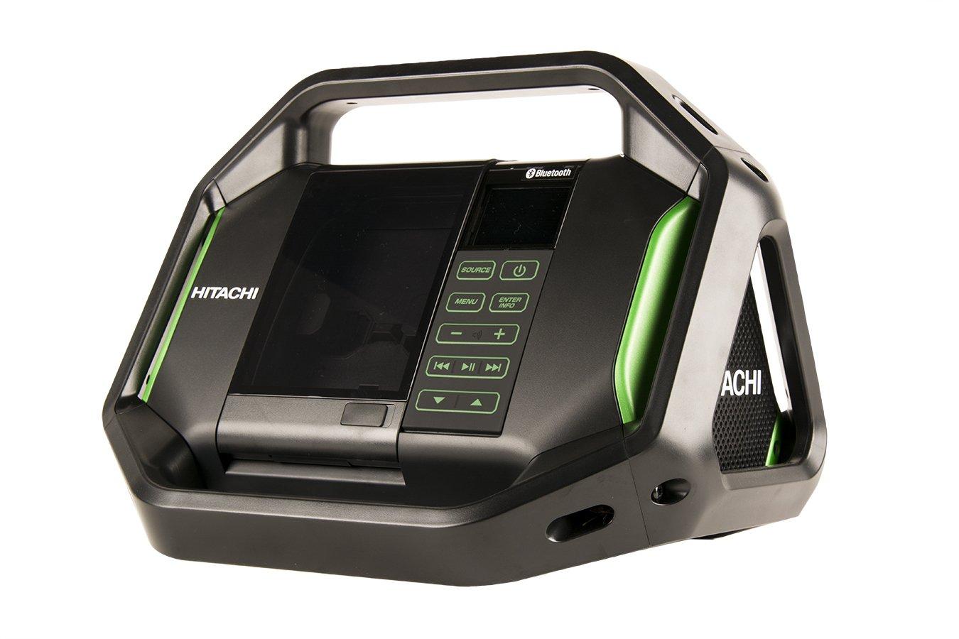hitachi work radio. hitachi ur18dsalp4 cordless 18-volt lithium-ion bluetooth radio with usb charger and alarm (radio only, no battery) - amazon.com work