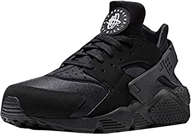 Nike Air Huarache All Black Running Shoes (9)