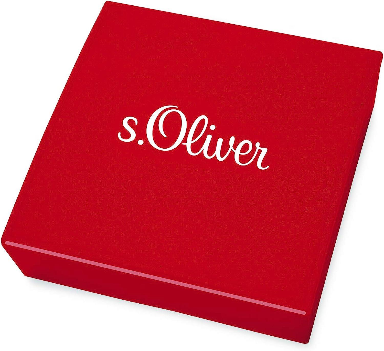cuir tress/é bois 40 + 3 cm s.Oliver Collier pour gar/çon avec pendentif croix en acier inoxydable longueur r/églable