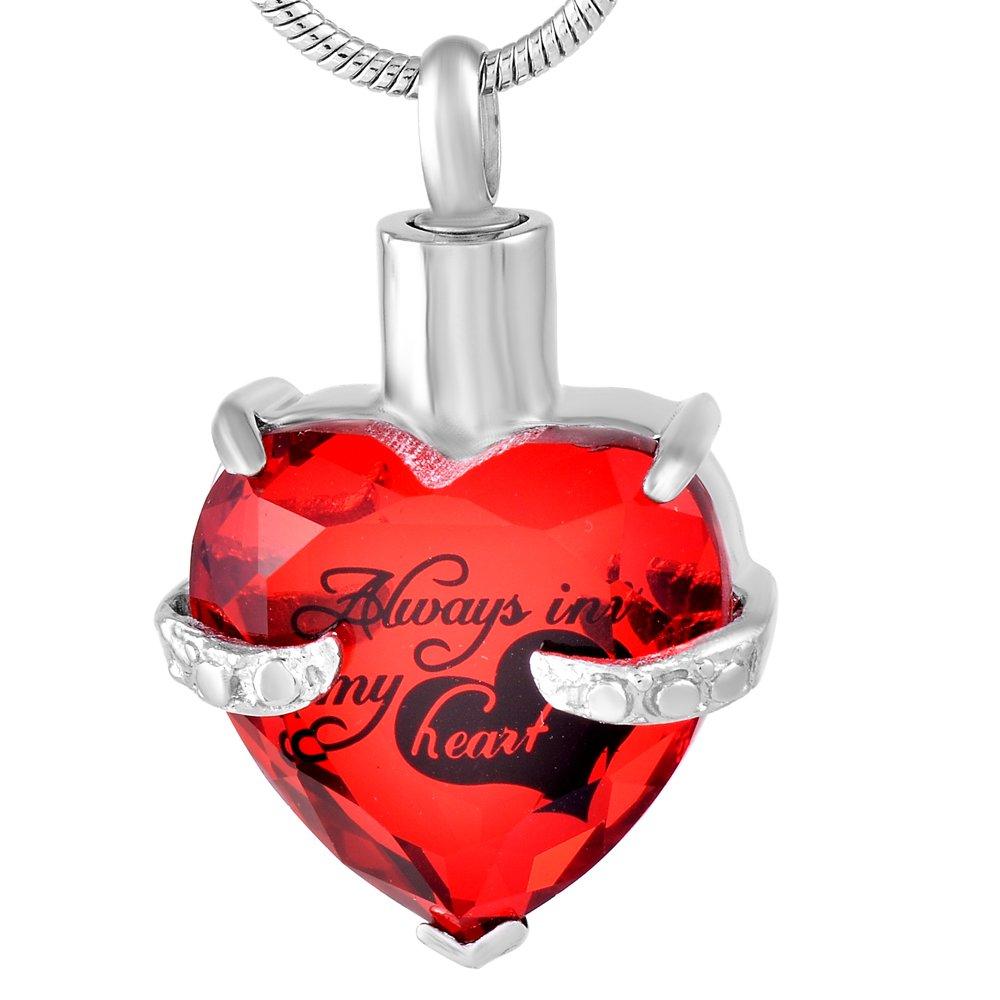 constantlife Crystal Heart Memorial Jewelry