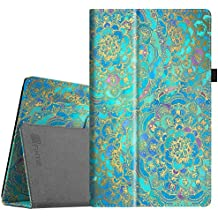 """Fintie Folio Case for All-New Amazon Fire HD 10 Tablet (7th Generation, 2017 Release) - Premium PU Leather Slim Fit Smart Stand Cover with Auto Wake/Sleep for Fire HD 10.1"""" Tablet, Shades of Blue"""