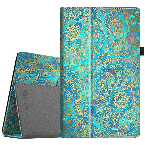 Fintie Folio Case for All-New Amazon Fire HD 10 Tablet (7th Generation, 2017 Release) - Premium PU Leather Slim Fit Smart Stand Cover with Auto Wake/Sleep for Fire HD 10.1 Tablet, Shades of Blue