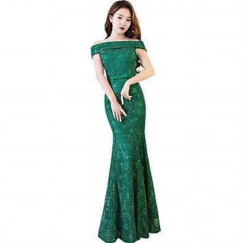 TY-ER Vestido de Dama de Honor de la Sección Larga Delgada del Hombro Vestido