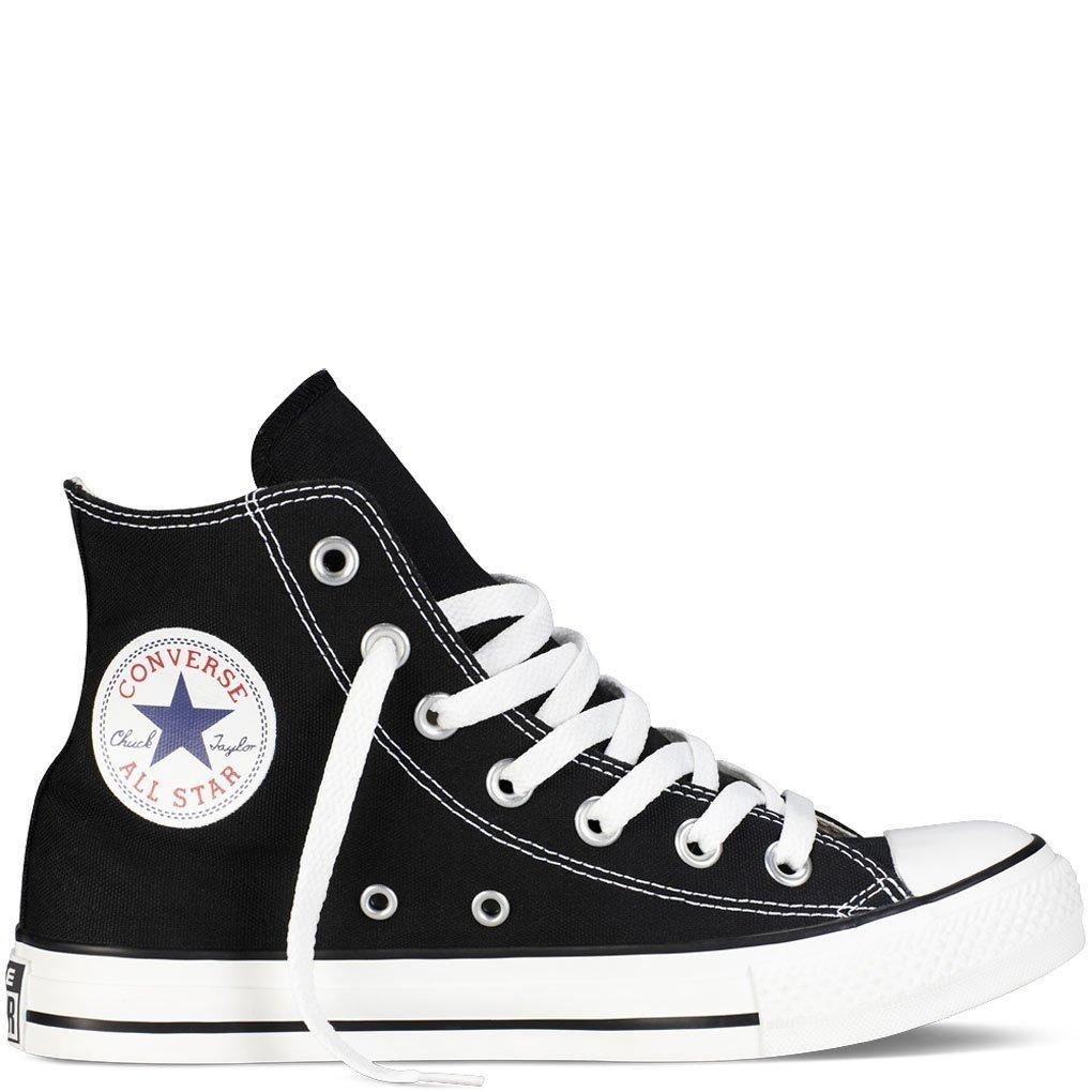 Converse Unisex Chuck Taylor All Star Hi Basketball Shoe, Women's Black, 8.0