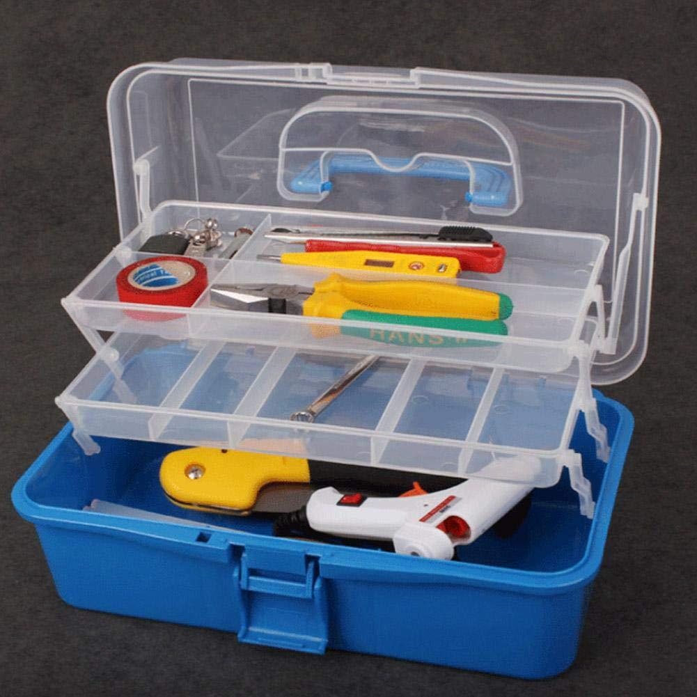 Multifunction Three-layer Storage Box Clear Plastic Foldable Storage Box Household Plastic Tool Organizers Purple