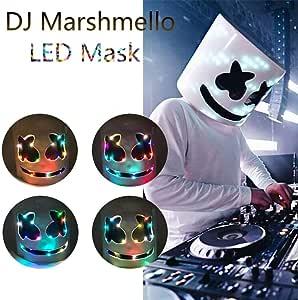 Safaiyy - Máscara LED para DJ, Marshmello, Casco, Disfraz de ...