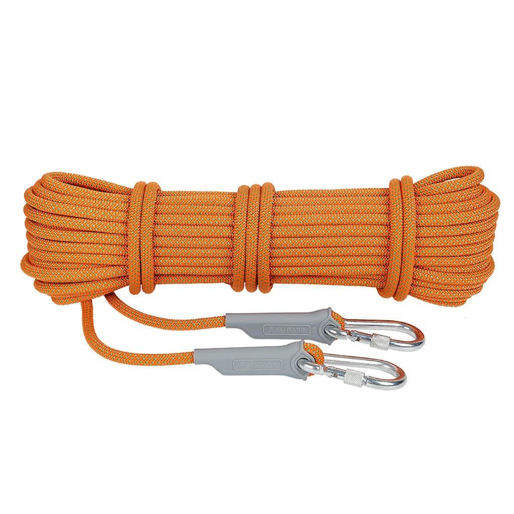 KTYXDE Corde d'escalade Rappel de la Corde équipement de sécurité extérieure Camping Escalade Alpinisme Conduite sur Route vêtements de plongée Multi-Taille en Option Orange Corde d'escalade 12mm 20m