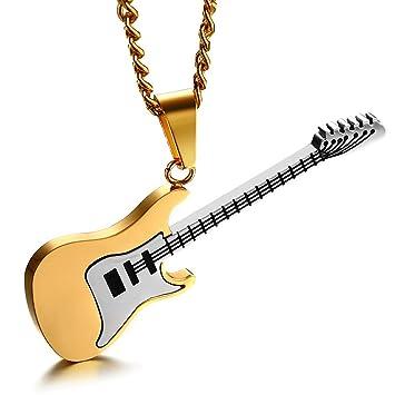"""SHIZHESHOP 23.5"""", Hombres Mujeres Amantes de la Música Guitarra Colgante de Guitarra Eléctrica Bajo"""