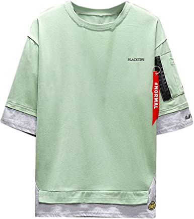 SFE Men T-Shirt Cotton,Fashion/&Sport Style Causal Men Summer Fashion Solid Hooded Pullover T-Shirt