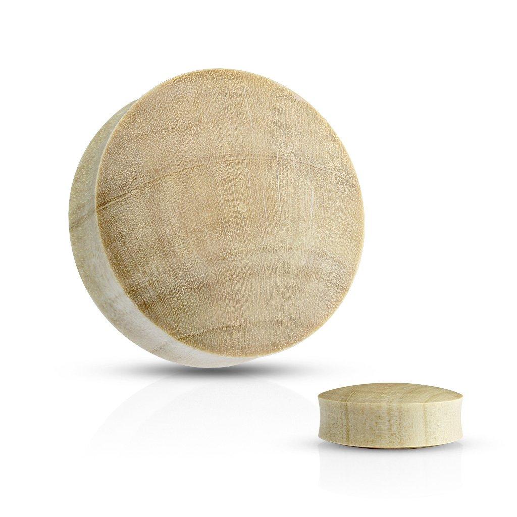 Inspiration Dezigns Pair of Saddle Fit Crocodile Wood Organic 22mm Plugs Stretcher