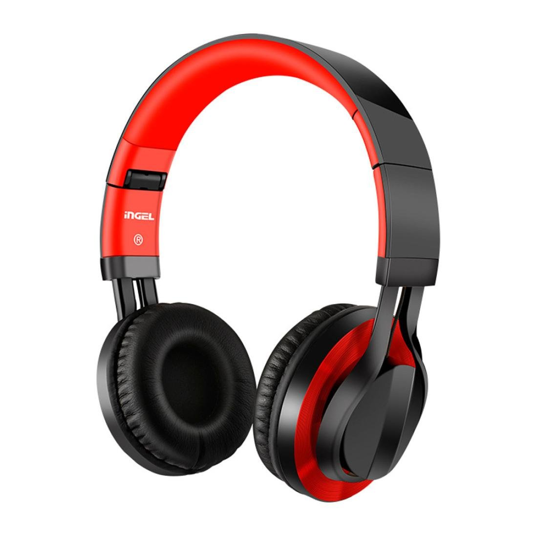 Sonmer Foldable Over Ear Stereo Wired Headphone With Soft Earmuffs (Black)