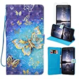 Cell Phones Accessories Zte Best Deals - ZTE ZMAX Pro Case, ZTE Carry Z981 Case, FirstCover Wallet Folio PU Leather Flip Case Cover with Card Holder and Wrist Strap for ZTE ZMAX Pro/Carry Z981 [Free Screen Protector]