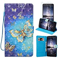 ZTE ZMAX Pro Case, ZTE Carry Z981 Case, FirstCover Wallet Folio PU Leather Flip Case Cover with Card Holder and Wrist Strap for ZTE ZMAX Pro/Carry Z981 [Free Screen Protector]