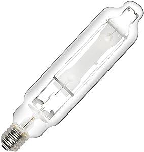 iPower GLBULBM1000 1000W Metal Halide MH Conversion Grow Light Bulb Lamp for Plants-High PAR Enhanced Blue and Violet Spectrums CCT 6000K, Glass
