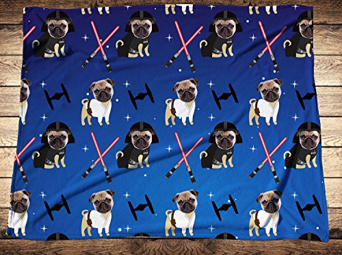 Your Pet On A Blanket,Personalized Star Wars Pet Photo Blanket, Custom Dog Face Blankets, Photo Throws,Photo Gifts, Dog Photo Blankets, ()