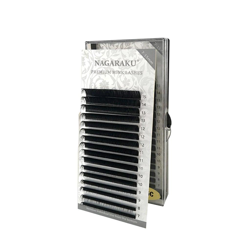 882a39712b1 NAGARAKU Eyelash Extensions Individual Faux Mink Eyelash Length 7-15mm  Mixed in one tray False