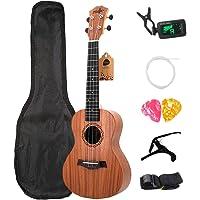 JVSISM Soprano Ukulele Kits 21 Rosewood 4 Strings Hawaiian Guitar with Bag Tuner Capo Strap Stings Picksmusical…