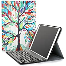 KuGi New iPad 9.7 2017 keyboard case, Ultra Lightweight Stand Portfolio cover case with Detachable Bluetooth Keyboard for Apple New iPad 9.7 2017 tablet (Picture 3)