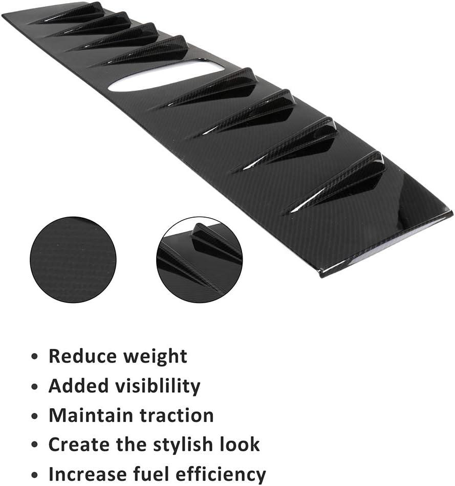 cciyu Black Carbon Fiber Rear Roof Spoiler Wing Replacement fit for 2015 2016 2017 2018 Subaru WRX 2015 2016 2017 Subaru WRX STI