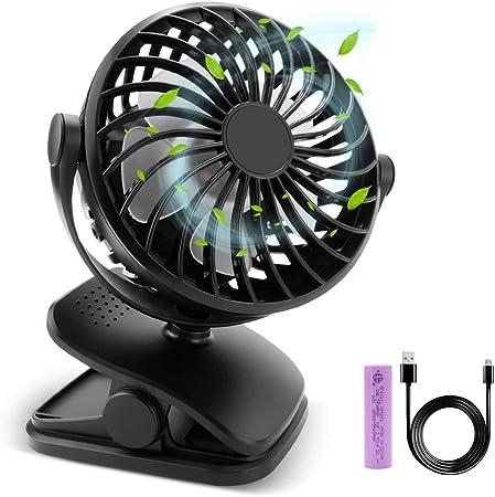 Air Cooler Mini Ventilador De Escritorio, Clip En El Ventilador, Ventilador Portátil USB Recargable con Pilas ...