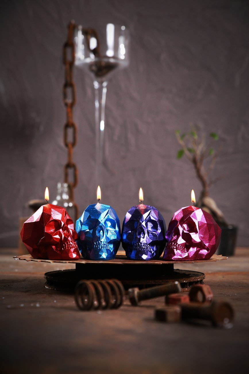Candellana Candles 5902841369276 Skull Small 4 pcs-Assorted II by Candellana Candles