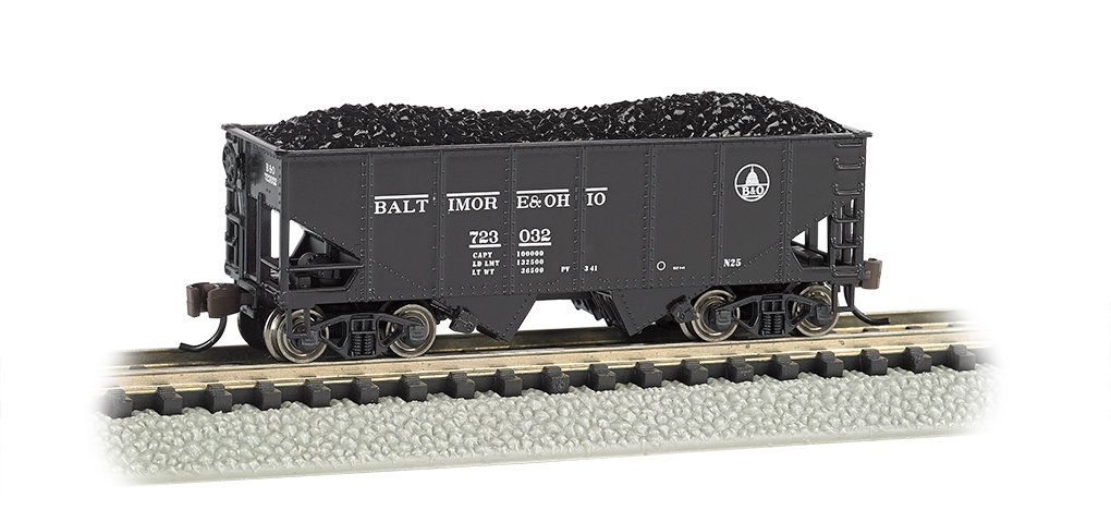 Bachmann Industries USRA 55-Ton 2-Bay Hopper B and O Train Car, N Scale