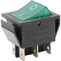 heschen Rocker Interruptor ON-OFF DPDT 6Terminales Luz verde