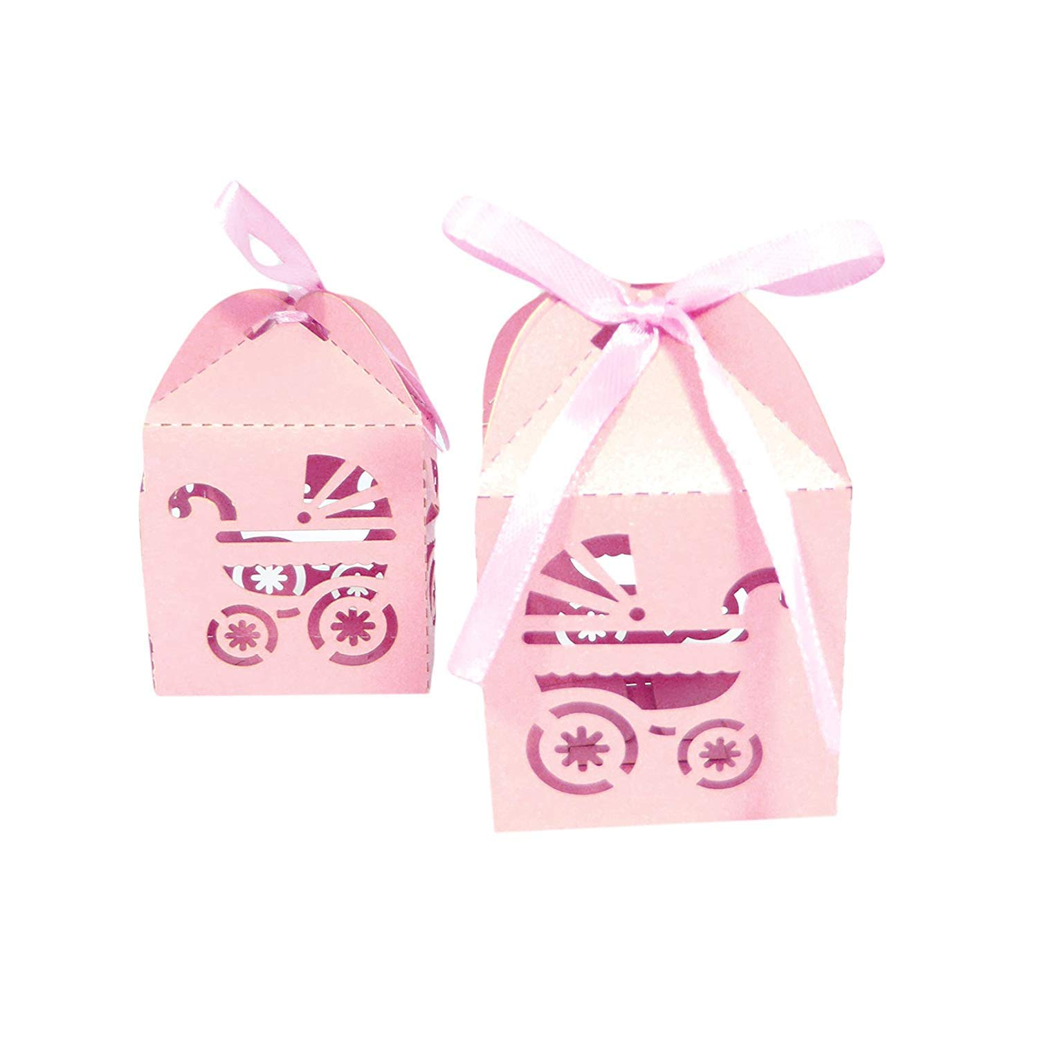 Wedding Baby Shower Gift Boxes Favors Carriage Laser Cut Candy Decoration Multi Pack Decorative